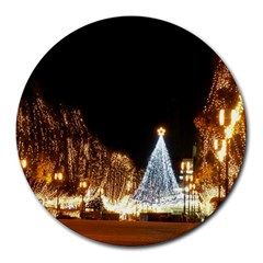 Christmas Deco 8  Mouse Pad (Round)
