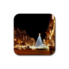 Christmas Deco 4 Pack Rubber Drinks Coaster (Square)
