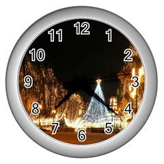 Christmas Deco Silver Wall Clock
