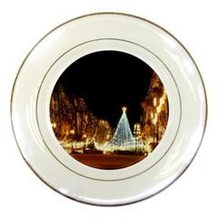 Christmas Deco Porcelain Display Plate