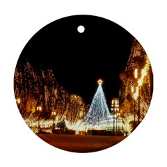 Christmas Deco Twin Sided Ceramic Ornament (round)