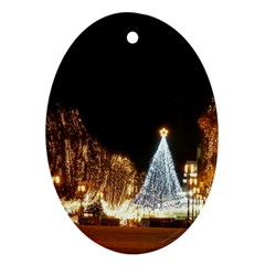 Christmas Deco Oval Ornament (two Sides)