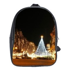 Christmas Deco Large School Backpack