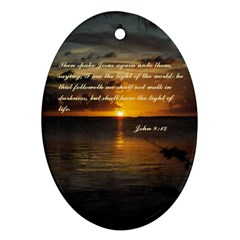 Sunset2 Ceramic Ornament (Oval)