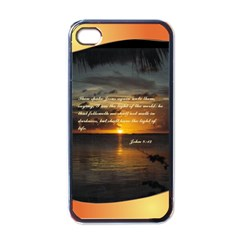 Sunset2 Black Apple iPhone 4 Case