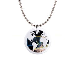 <3 Earth 1  Button Necklace