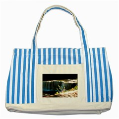 Waterfall Blue Striped Tote Bag