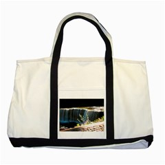 Waterfall Two Toned Tote Bag