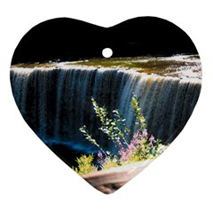 <3 Earth Heart Ornament (Two Sides)