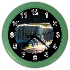 Waterfall Colored Wall Clock