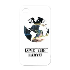 <3 Earth Apple iPhone 4 Case (White)