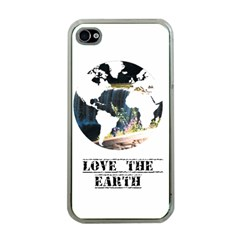 <3 Earth Apple iPhone 4 Case (Clear)