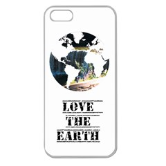 <3 Earth Apple Seamless Iphone 5 Case (clear)
