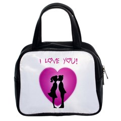 I Love You Kiss Twin-sided Satchel Handbag