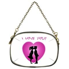 I Love You Kiss Single-sided Evening Purse