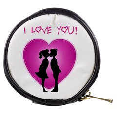 I Love You Kiss Mini Makeup Case