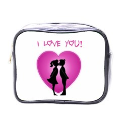 I Love You Kiss Single-sided Cosmetic Case