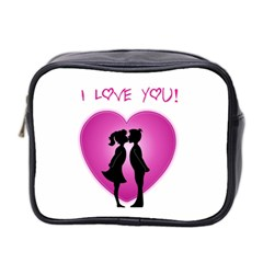 I Love You Kiss Twin-sided Cosmetic Case