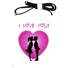 I Love You Kiss Cross Shoulder Sling Bag