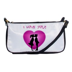 I Love You Kiss Evening Bag