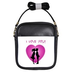 I Love You Kiss Kids  Sling Bag