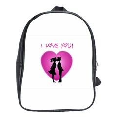 I Love You Kiss School Bag (xl)