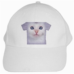 cute cat White Baseball Cap