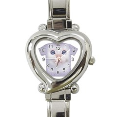 cute cat Classic Elegant Ladies Watch (Heart)