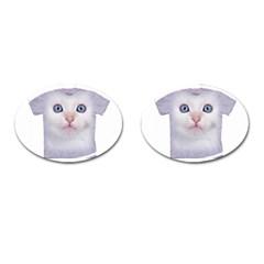 cute cat Oval Cuff Links