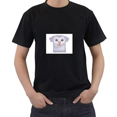 cute cat Black Mens'' T-shirt