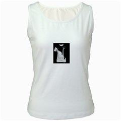 Milky White Womens  Tank Top