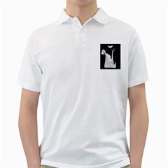 Milky White Mens  Polo Shirt