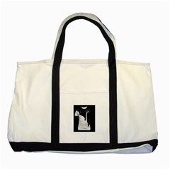Milky Two Toned Tote Bag