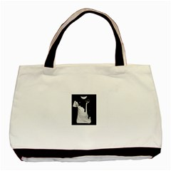 Milky Twin-sided Black Tote Bag