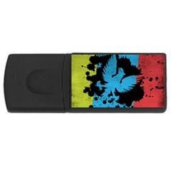 Spread your wings 2Gb USB Flash Drive (Rectangle)