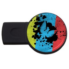 Spread your wings 4Gb USB Flash Drive (Round)