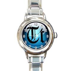 Small Logo Of Trickytricks Round Italian Charm Watch