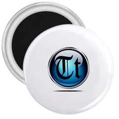 Small Logo Of Trickytricks 3  Button Magnet