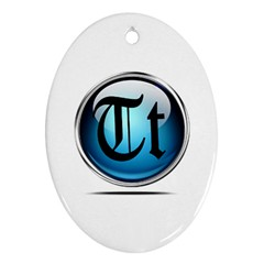 Small Logo Of Trickytricks Oval Ornament