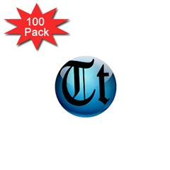 Small Logo Of Trickytricks 1  Mini Button Magnet (100 pack)