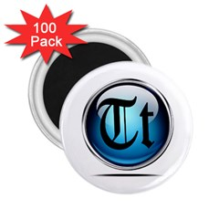 Small Logo Of Trickytricks 2 25  Button Magnet (100 Pack)
