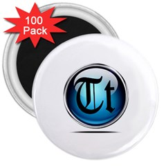 Small Logo Of Trickytricks 3  Button Magnet (100 pack)