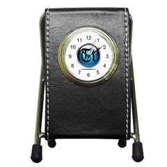 Small Logo Of Trickytricks Stationery Holder Clock