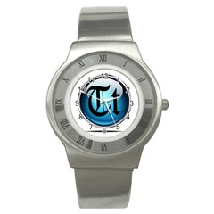 Small Logo Of Trickytricks Stainless Steel Watch (Unisex)