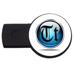 Small Logo Of Trickytricks 4gb Usb Flash Drive (round)