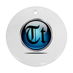 Small Logo Of Trickytricks Round Ornament (Two Sides)