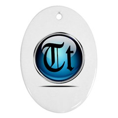 Small Logo Of Trickytricks Oval Ornament (Two Sides)
