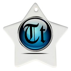 Small Logo Of Trickytricks Star Ornament (Two Sides)