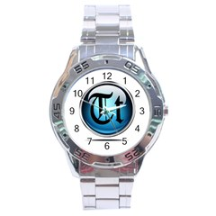Small Logo Of Trickytricks Stainless Steel Watch (Men s)