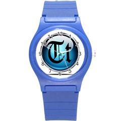 Small Logo Of Trickytricks Round Plastic Sport Watch Small